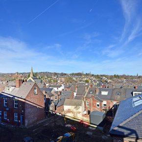 Superb views over Sheffield