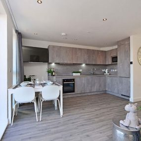 Luxury Karl Benz fitted kitchen with integrated appliances